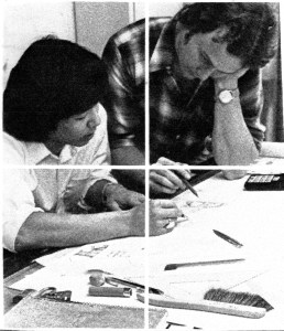 That's me on the right at the OSU School of Architecture in 1978