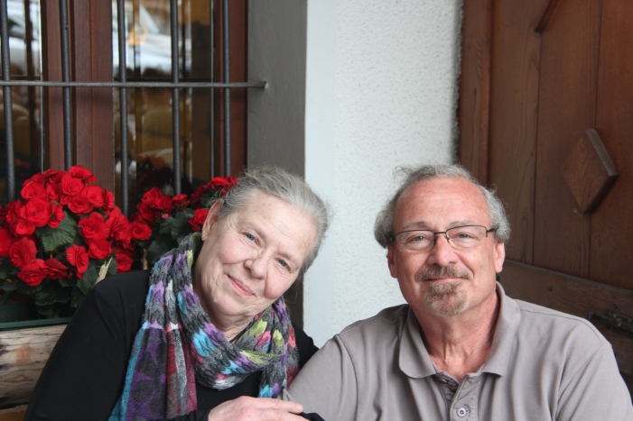 Livo, Italy:  Lady J and me.