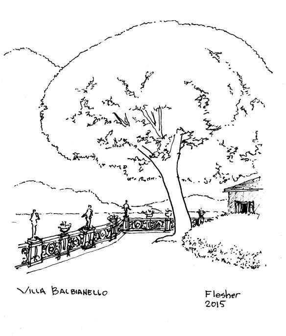 sketch Villa Barbianello 2015