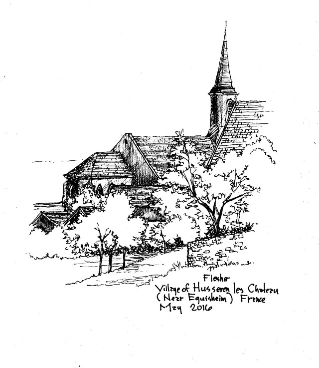 sketch Husseren les Chateau 2016