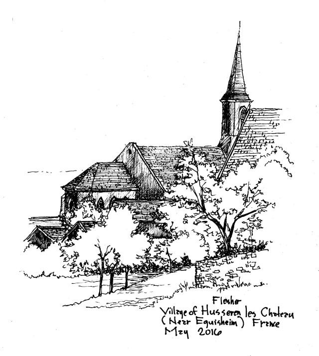 sketch  Husseren les Chateau