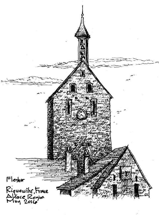 sketch Riquewihr France 2016