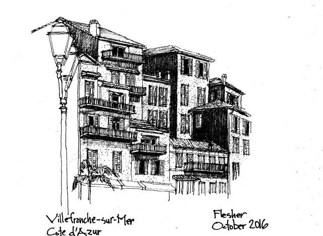 sketch Villefranche-sur-Mer 2016